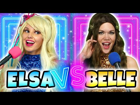 ELSA VS BELLE PRINCESS RAP BATTLE & DISNEY SONG  Totally TV Parody