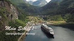 GEIRANGER FJORD Norway | Mein Schiff 1  | Drone Video