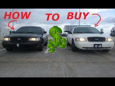 HOW TO BUY A USED COP CAR!! [P71]