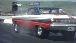 "1964 A/FX comet ""BIG STICK"" at the wheel"