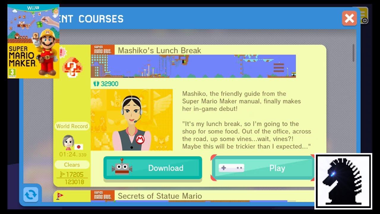 wii u super mario maker event course mashiko s lunch break youtube