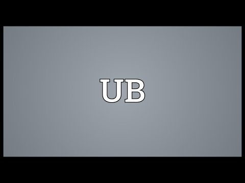 UB Meaning