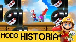¡RESCATANDO AL SOLDADO TOAD! - MODO HISTORIA #2   SUPER MARIO MAKER 2 (Switch) - ZetaSSJ