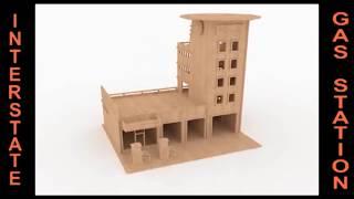 Gas Station Wood Toy Plans Cnc Router Laser Cut