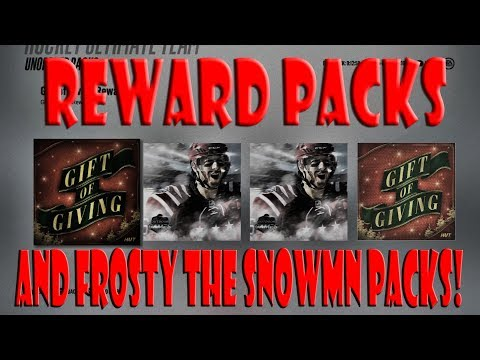 2 Gift of Giving Reward Packs & More! NHL 18 HUT Pack Opening