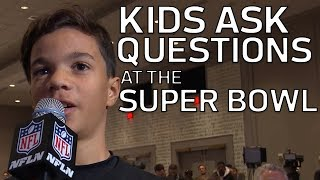 Kid Reporters Ask Roger Goodell Questions at the Super Bowl | NFL Rush