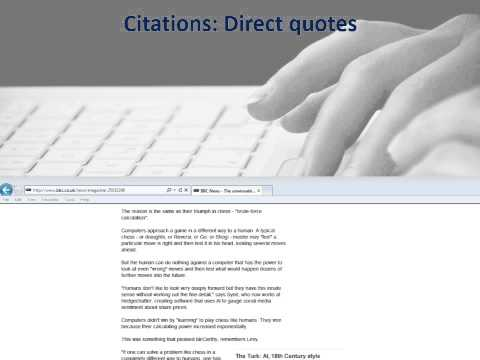 How to cite and reference a webpage where an author's name is present.