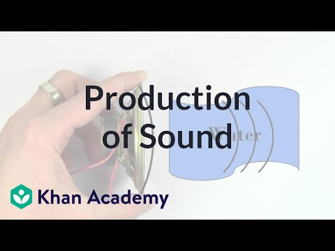 Production of sound | Mechanical waves and sound | Physics | Khan Academy