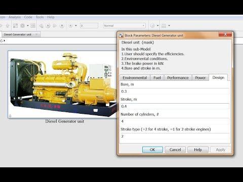 Diesel Generator Matlab Simulink Model Run