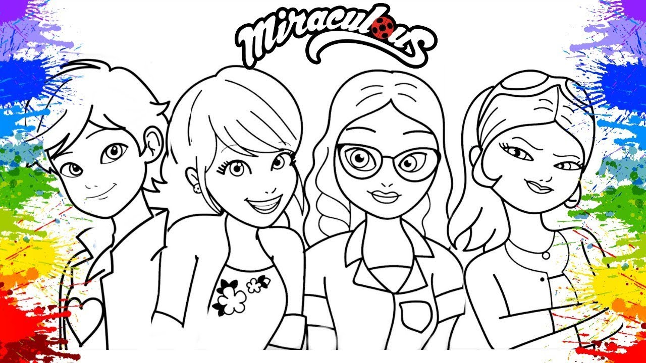Miraculous Ladybug Season 2 Coloring Pages How To Color Book Marinette Alya Chloe