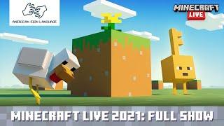 [AMERICAN SIGN LANGUAGE] Minecraft Live 2021
