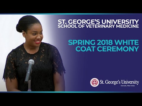 Spring 2018 School of Veterinary Medicine White Coat Ceremony