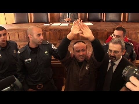 Jailed Palestinian leader in rare court appearance