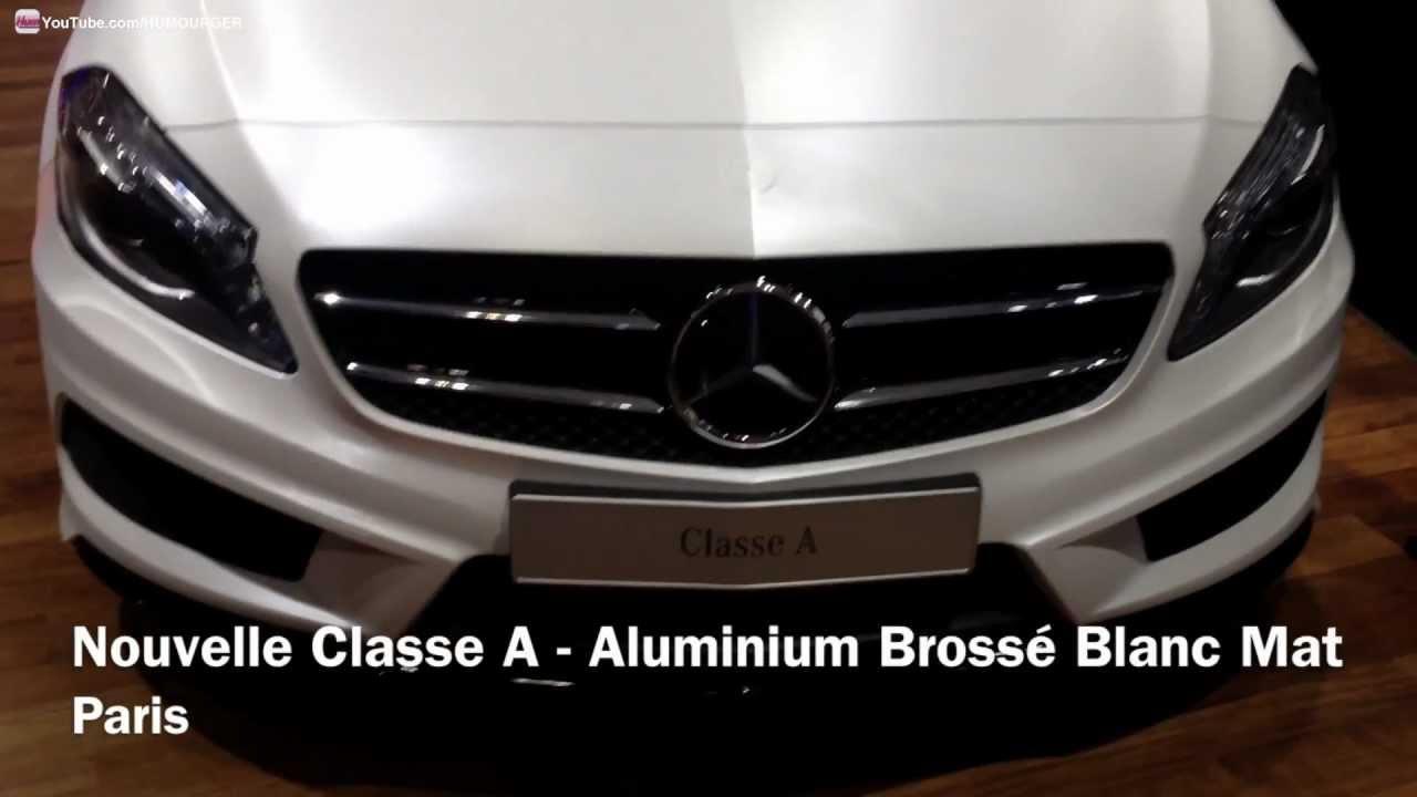 Nouvelle Mercedes Classe A En Aluminium Brossé Blanc Mat