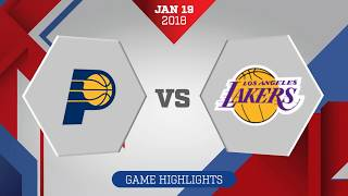 Indiana Pacers vs. Los Angeles Lakers - January 19, 2018