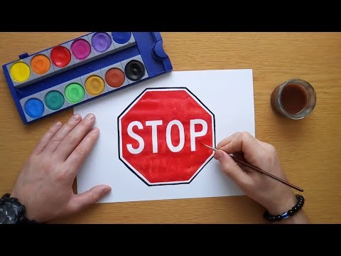 How to draw a STOP sign