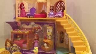 (美國玩具介紹)迪士尼小公主蘇菲亞和她的新床 玩具開箱 魔法說話城堡 Sofia and Royal Bed
