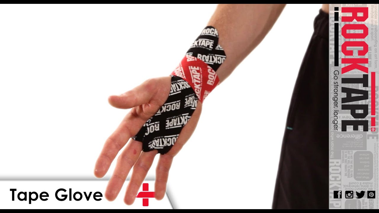 rocktape kinesiology tape instruction tape glove hand  [ 1280 x 720 Pixel ]