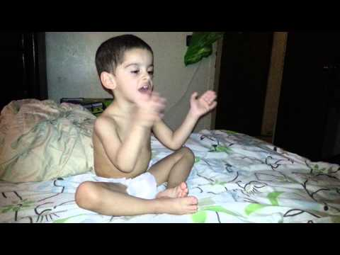 Evan singing itzy bitzy spider and patty cake