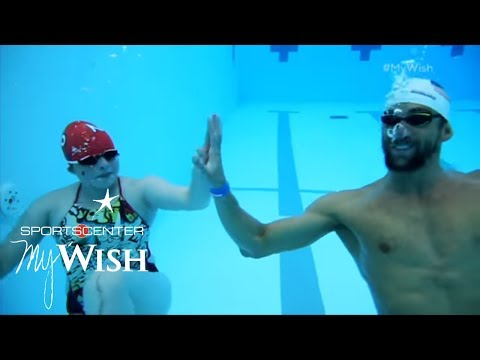 Michael Phelps Helps Make A Splash | My Wish | ESPN Archives