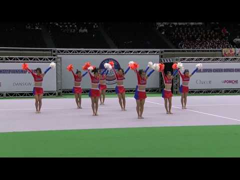 """JETS Blue"" freshman team of JETS, in All Japan Cheer Dance Championship 2017"