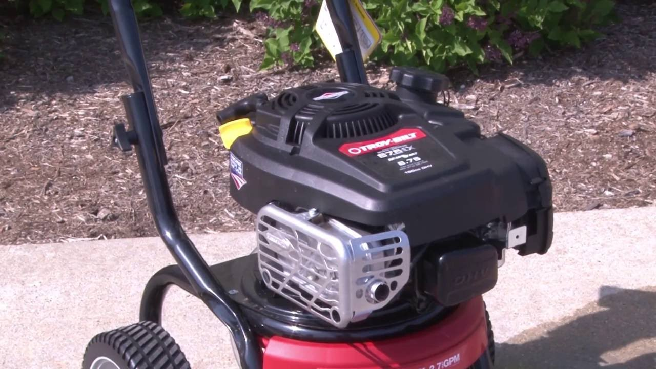 Troy-Bilt® Pressure Washer Maintenance and Storage Tips