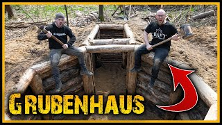 Grubenhaus - Bunker im Wald? 🤔 - Bushcraft Camp Shelter Survival