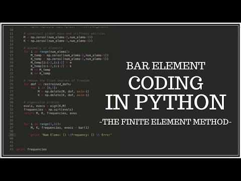 Bar Element - Coding in Python