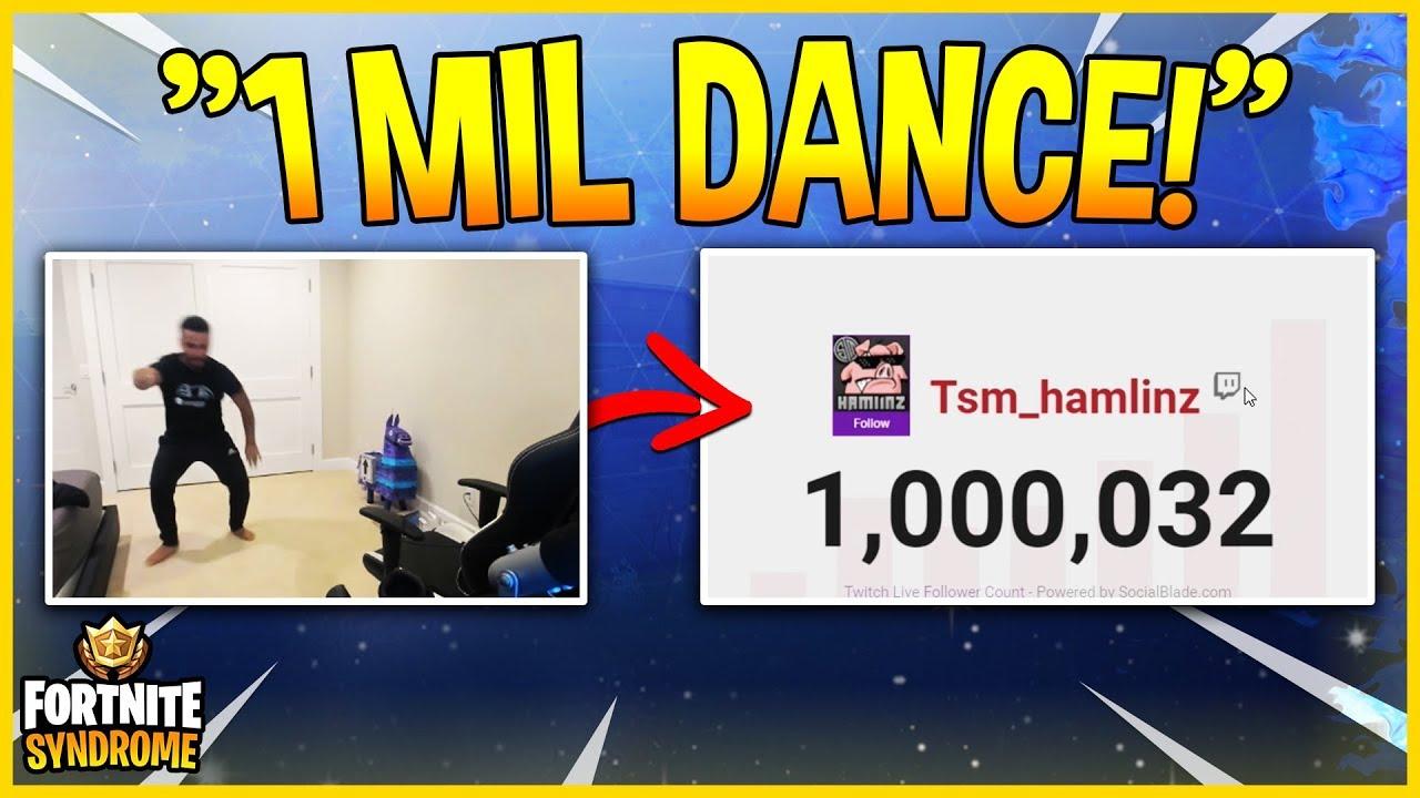 TSM Hamlinz Reacts To Reaching 1 Million Followers On Twitch! - Fortnite  Moments #165