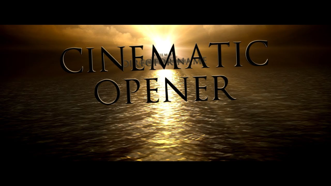 After Effects Template :: Cinematic Opener - YouTube
