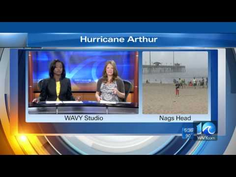 WAVY News Team coverage of Hurricane Arthur from the Outer Banks