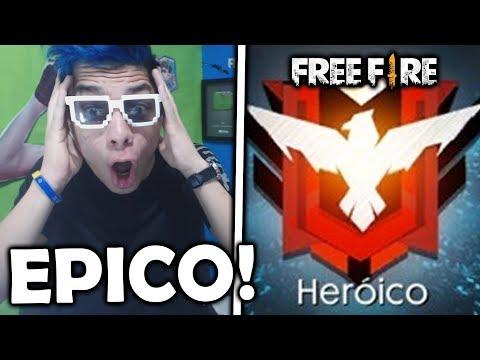 ¡ESTOY A PUNTO DE SER HEROICO EN FREE FIRE! *lo más épico*