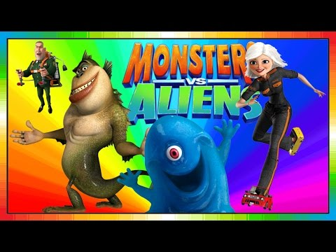 Aliens Vs Monster  ENGLISH  kids movie  Monsters and Alien  Monster und Aliens Videogame