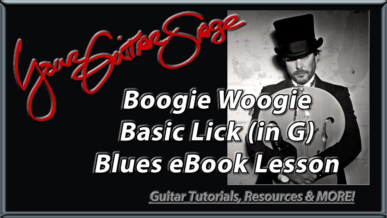Ygs Boogie Woogie Basic Riff In G Blues Ebook Beginner