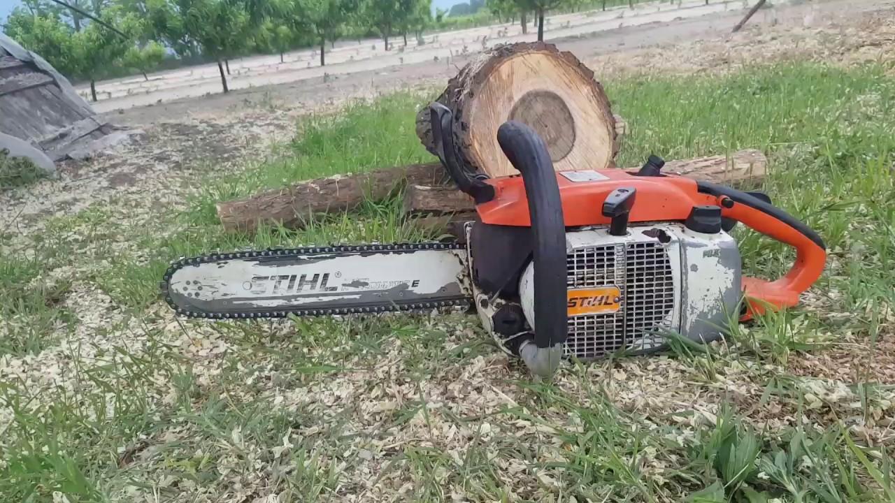 Stihl 032 AV chainsaw - YouTube