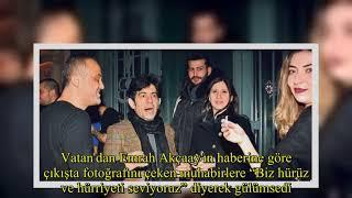 Okan Bayülgen sevgilisi Selin Atasoy'la önceki akşam Karaköyde bir mekanda eğlendi
