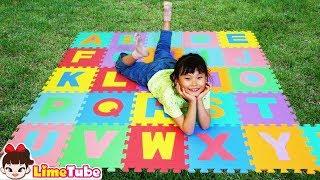 라임의 ABC 알파벳 퍼즐매트로 영어 배우기! 알파벳송 인기동요 놀이 ABC Song Nursery Rhymes for kids! | 라임튜브 LimeTube toy review