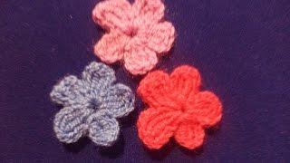 Вязаные цветы   Free crochet flower pattern