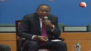 President Kenyatta responds to questions at AMCHAM Summit 2018 Kenya
