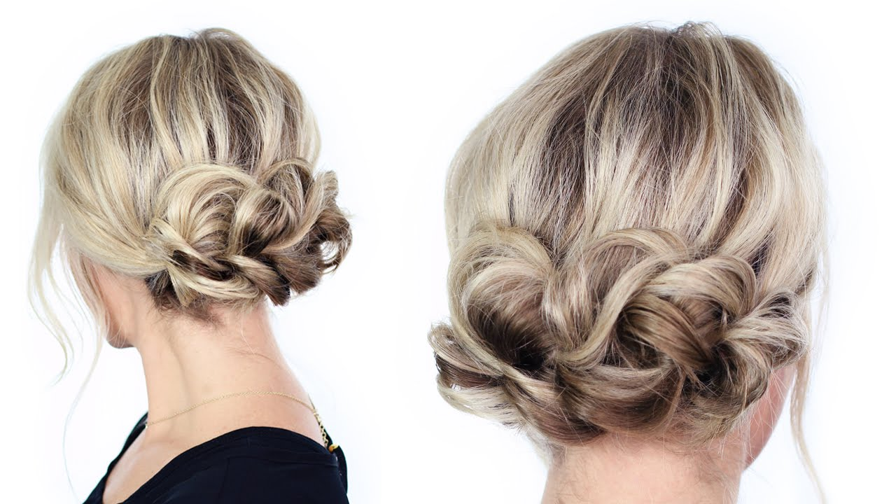 easy hair up styles to do yourself simple updo 5520