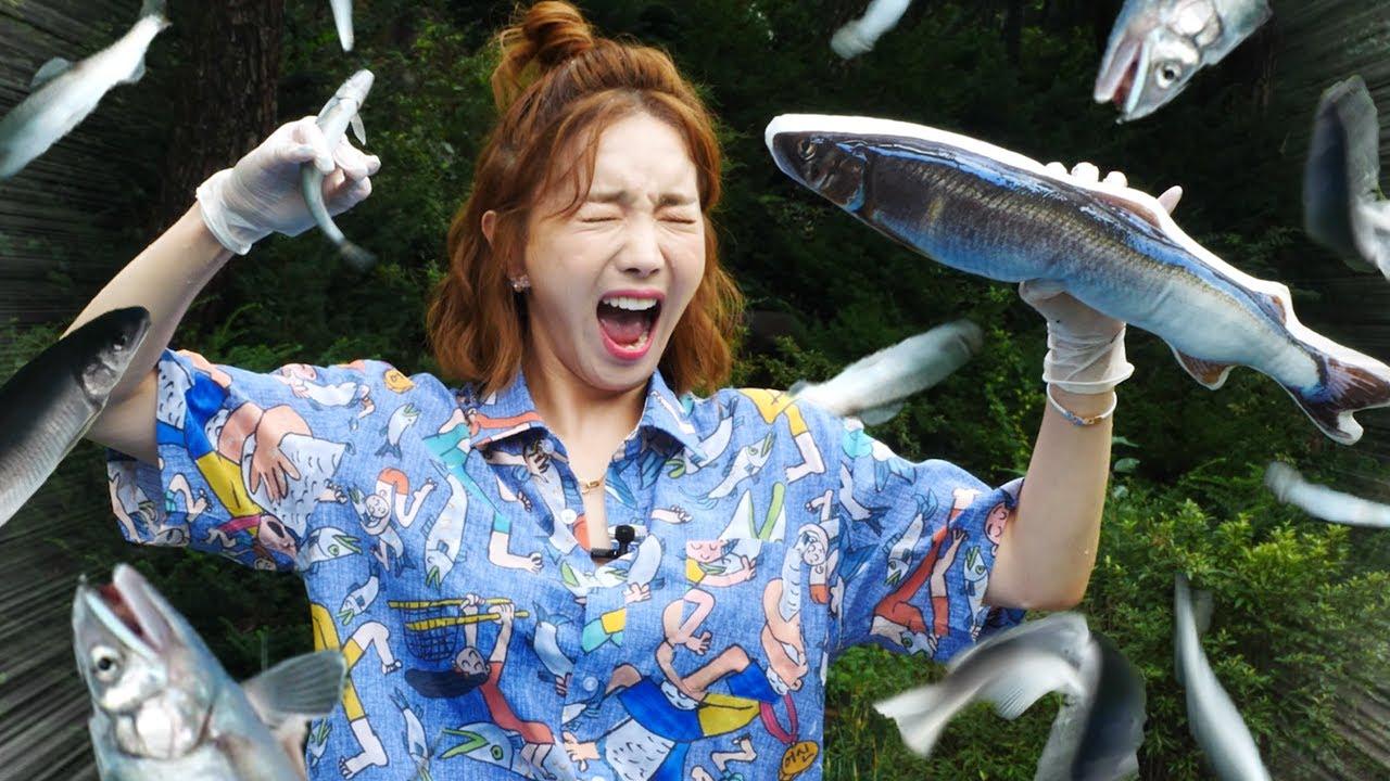 [Mukbang] 팔딱팔딱 뛰는 은어🐟먹방! 온라인 봉화은어 축제에 다녀왔습니다 I went to the Bonghwa Sweetfish Festival ASMR  Ssoyoung