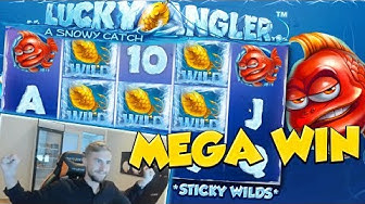 BIG WIN!!! Lucky Angler Huge win - NetEnt - free spins (Online slots)