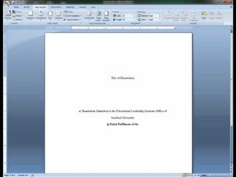 how to make an apa cover page