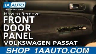 How To Install Replace Remove Front Door Panel Volkswagen Passat Wagon 1AAuto.com thumbnail