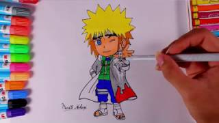 How to draw Minato in Chibi