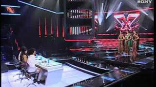 X Factor India - Sajda Sisters perform Aaj Ki Raat- X Factor india - Episode 9 -  11th June 2011