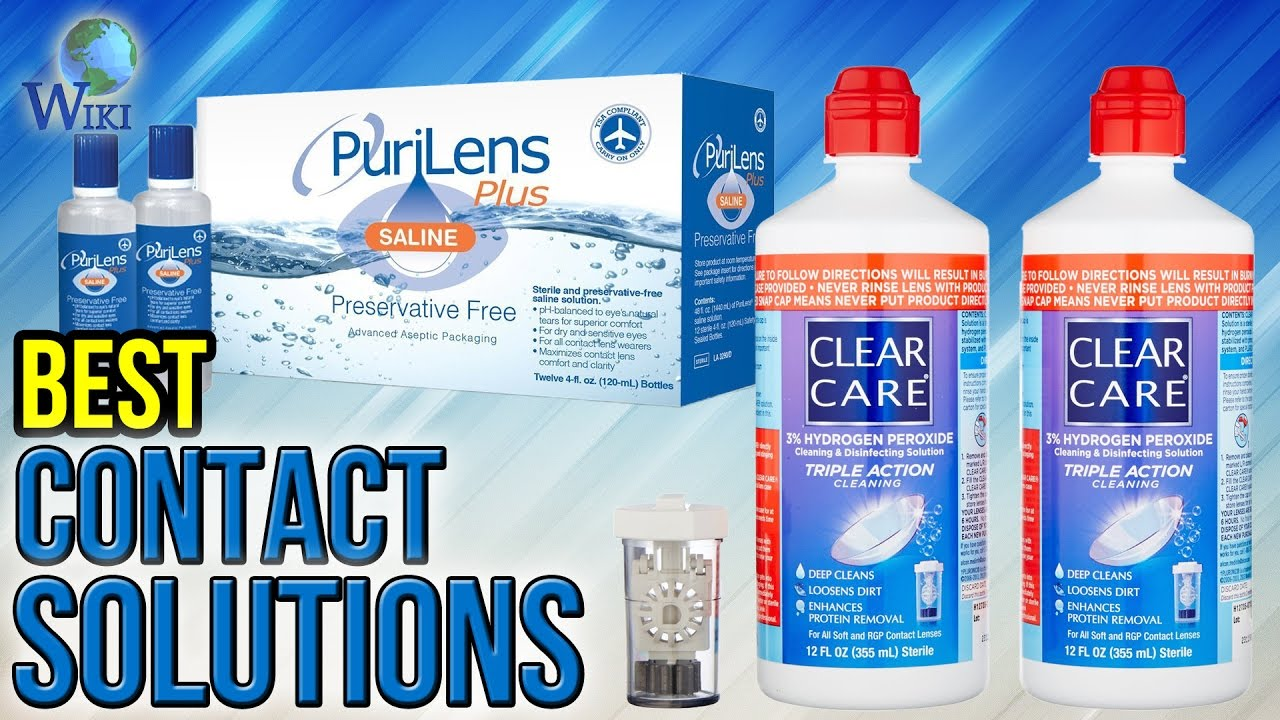 Peroxide solution for lenses - simple cleaning and disinfection of contact lenses of any type
