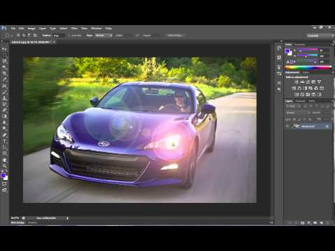 how to make headlights look on in photoshop
