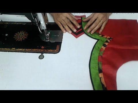 cotton saree blouse back neck design