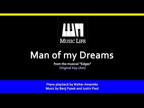 Man of my Dreams (Edges) - Piano playback for Cover / Karaoke